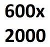 Размер полотна 600 х 2000 мм.