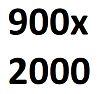 Размер полотна 900 х 2000 мм.