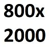Размер полотна 800 х 2000 мм.